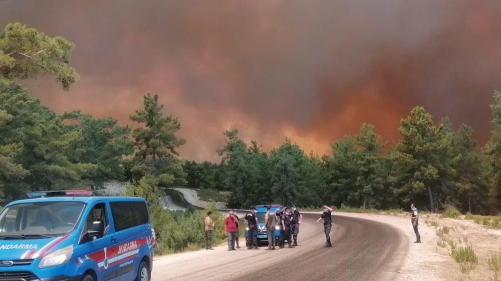 Antalya Manavgat'ta büyük orman yangını - 12