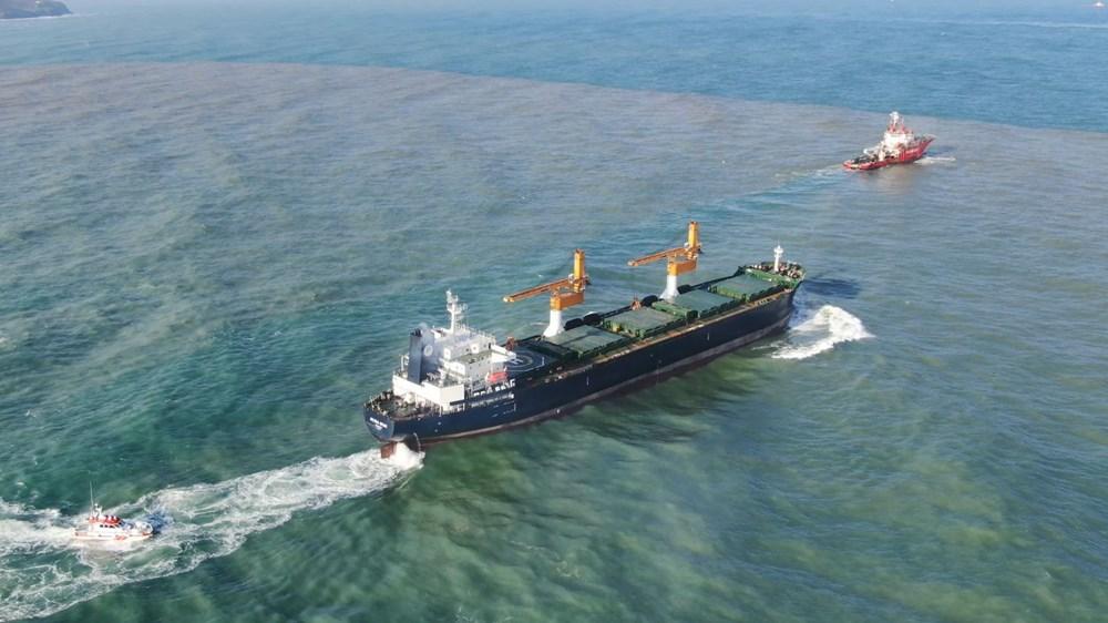 Riva'da sürüklenen kargo gemisi kurtarıldı - 2
