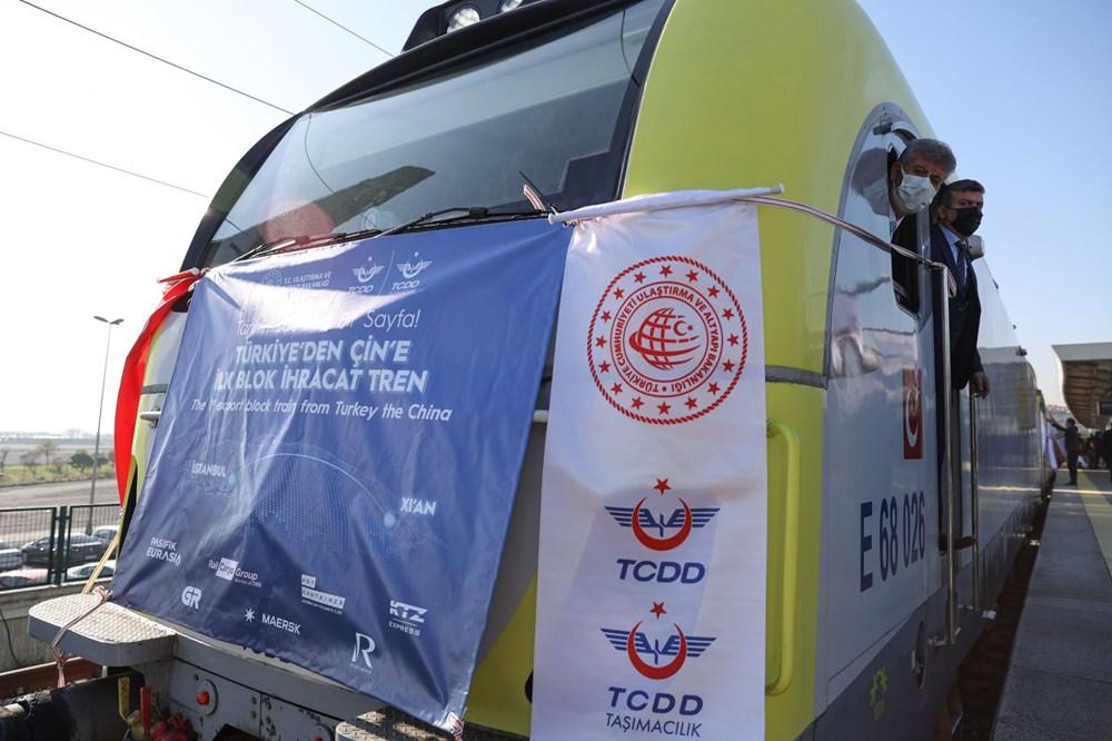 Türkiye'den Çin'e gidecek ilk ihracat treni İstanbul'dan uğurlandı - 2