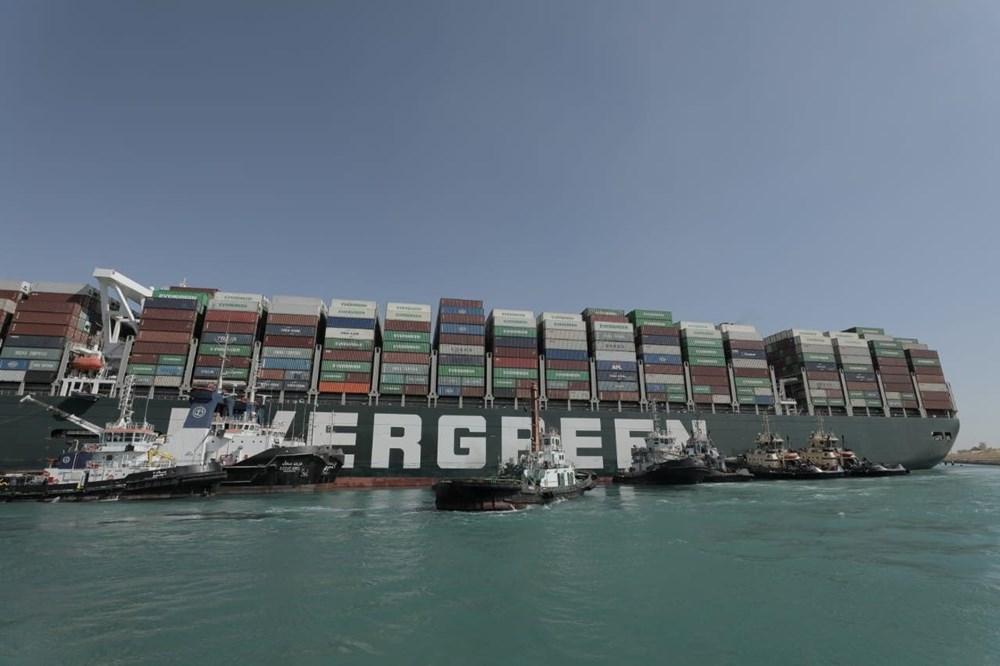 Süveyş Kanalı 6. günde kısmen açıldı: Ever Given gemisi yüzdürüldü - 5