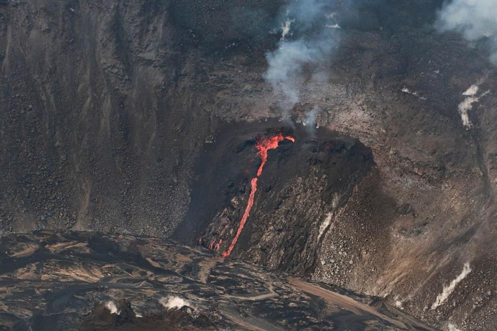 Kilauea Yanardağı'nda patlamaları: Krater gölü buharlaştı - 4