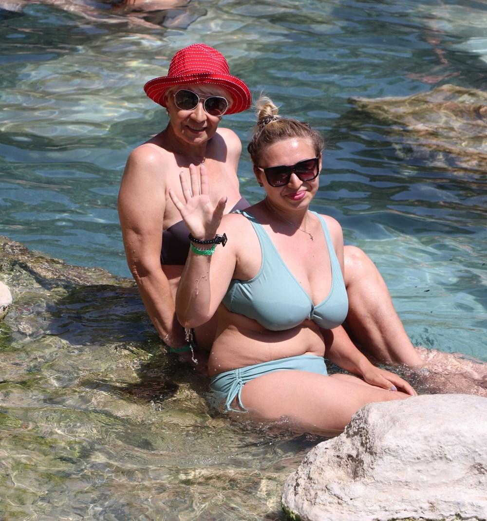 Kleopatra'nın da yüzdüğüne inanılan 2 bin 500 yıllık antik havuza yoğun ilgi - 9