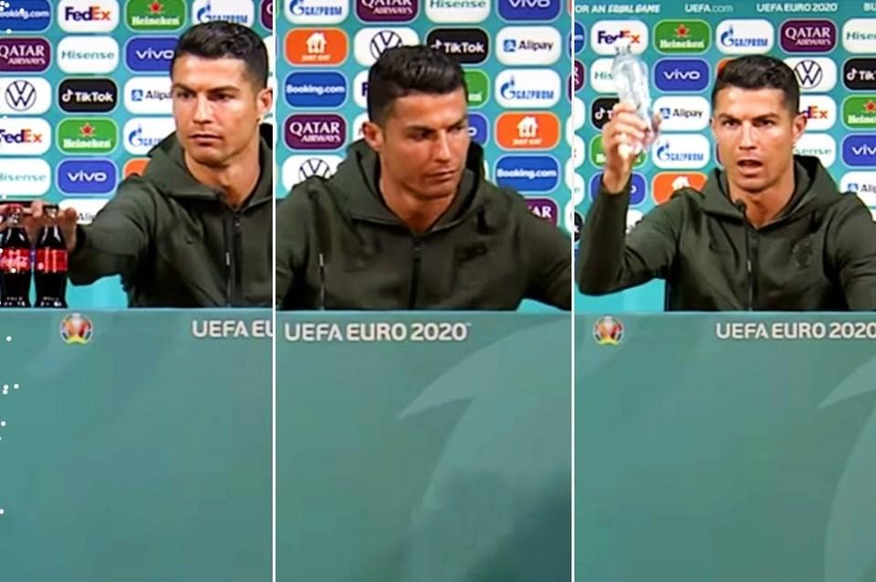 Ronaldo şişeleri kaldırdı, Coca Cola 4 milyar dolar kaybetti | NTV