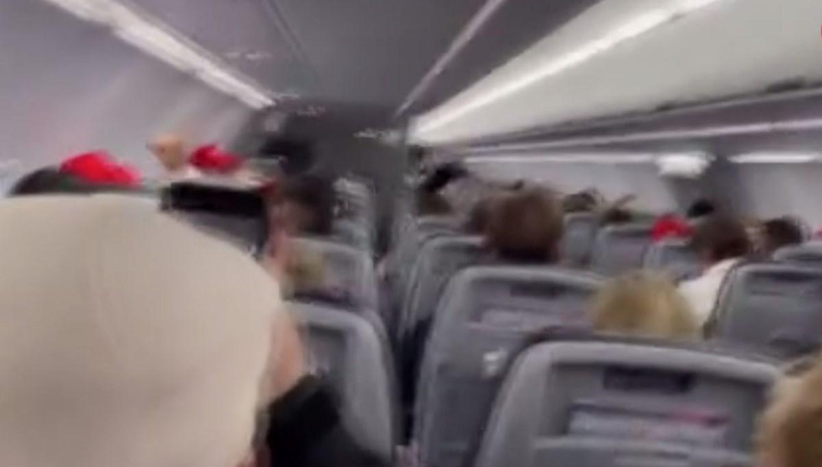 Trump taraftarları uçakta olay çıkardı (Pilottan tehdit)