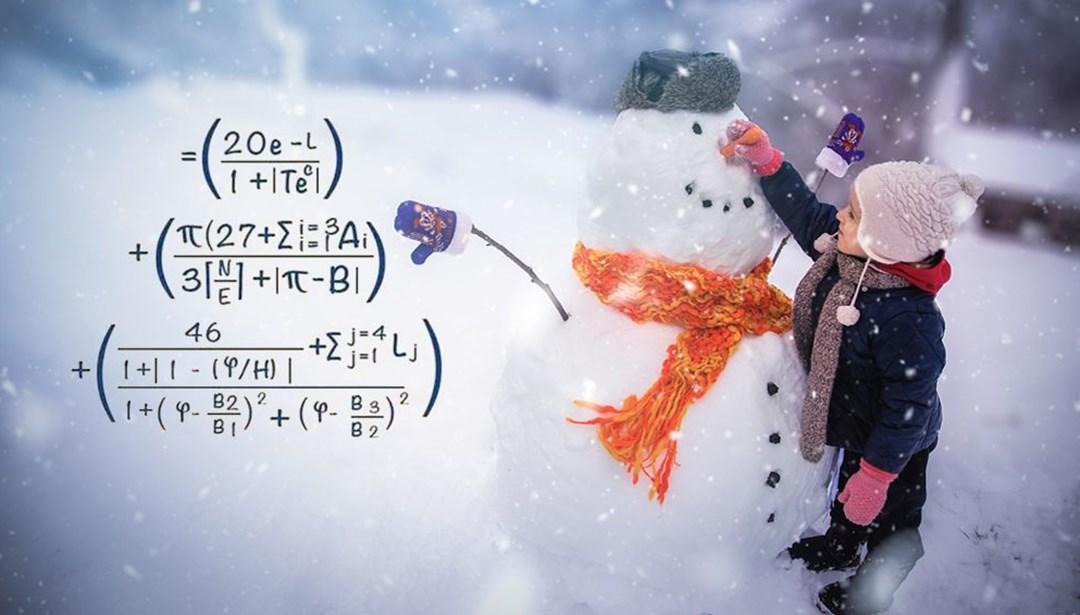 'Mükemmel' kardan adam için matemetik formülü