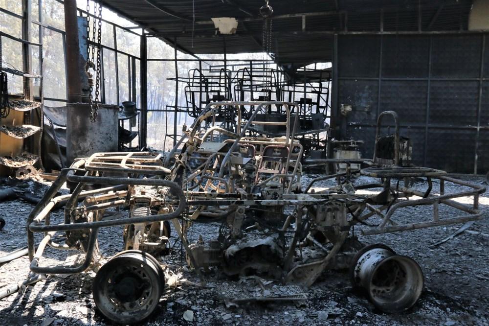 Manavgat'ta safari tesisi küle döndü, alevlerin arasında kalan işletme sahibi ölümden döndü - 10