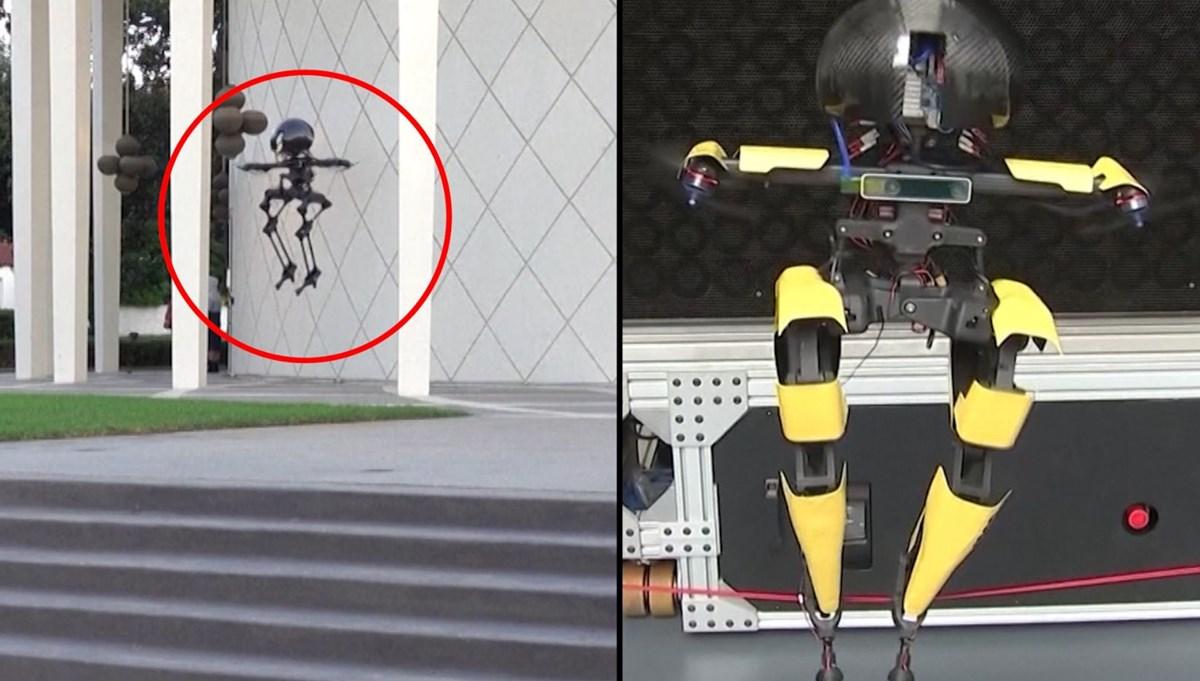 Uçan robot geliştirildi: 'Leo' ip üstünde de yürüyebiliyor