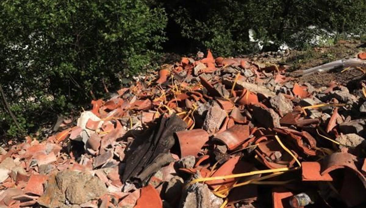 Sümela'da restorasyon atıklarını dereye döktüler
