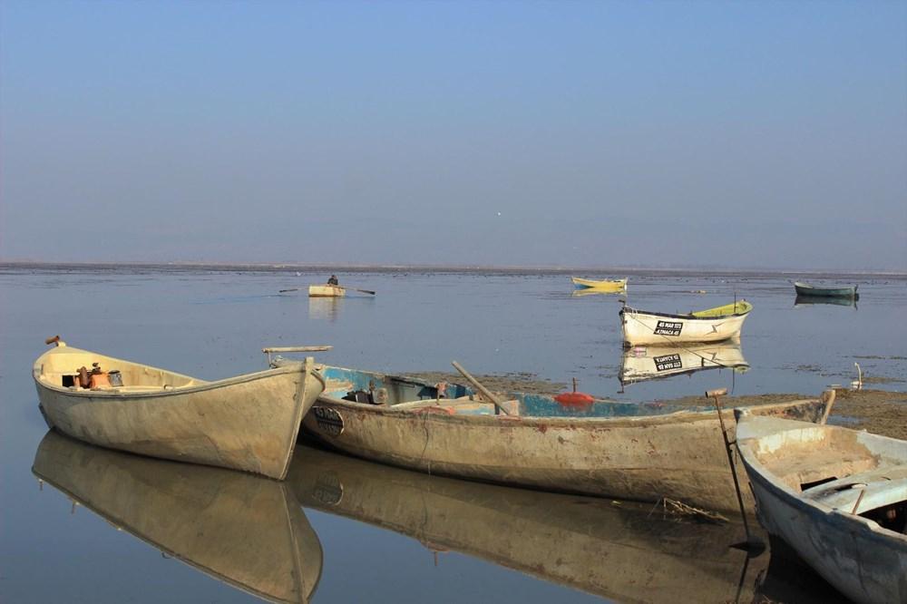 'Kuş cenneti' Marmara Gölü'nde derinlik 40 santimetreye düştü - 12