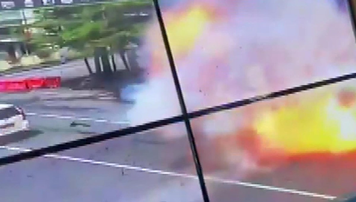 The moment of attack on church in Indonesia is on camera
