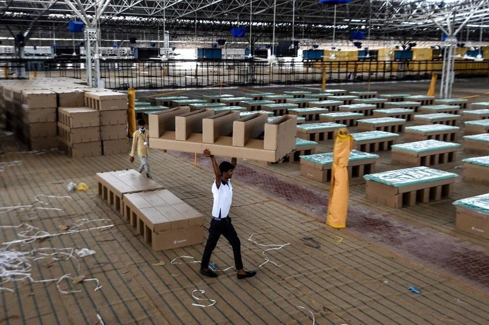 Hindistan'da Covid-19'a karşı karton yatak çözümü - 16