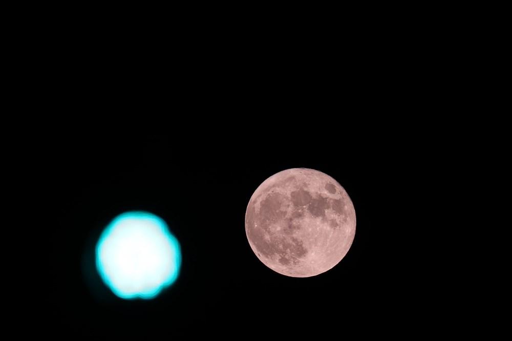 2021'in son Süper Ay'ı, Çilek Ay Tutulması gerçekleşti: Türkiye'den ve dünyadan manzaralar - 17