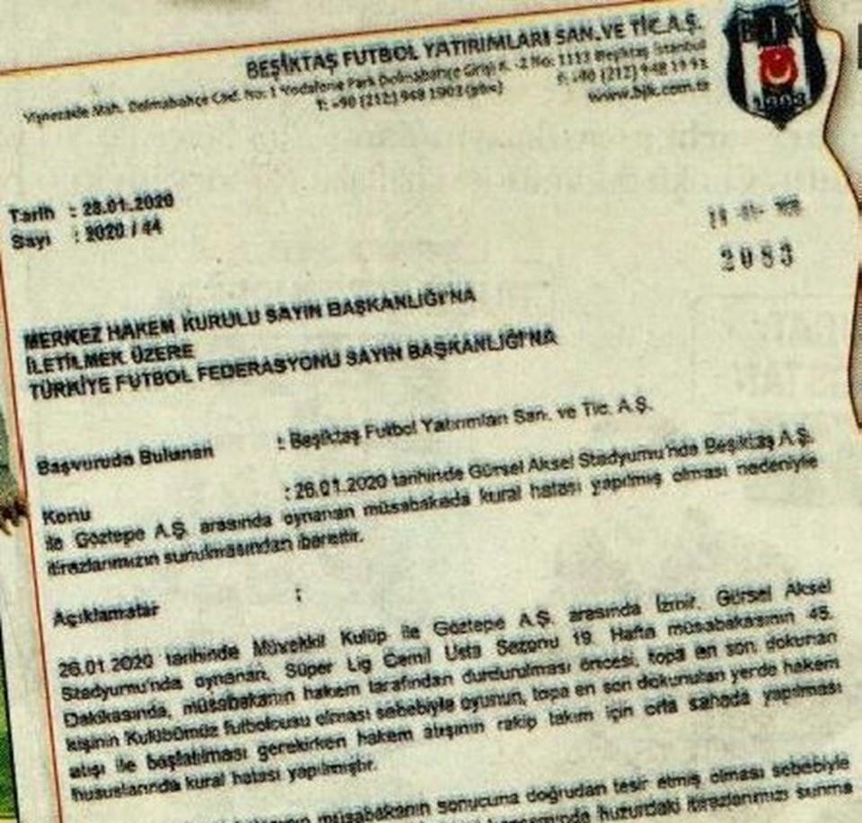 İşte Beşiktaş'ın resmi başvurusu
