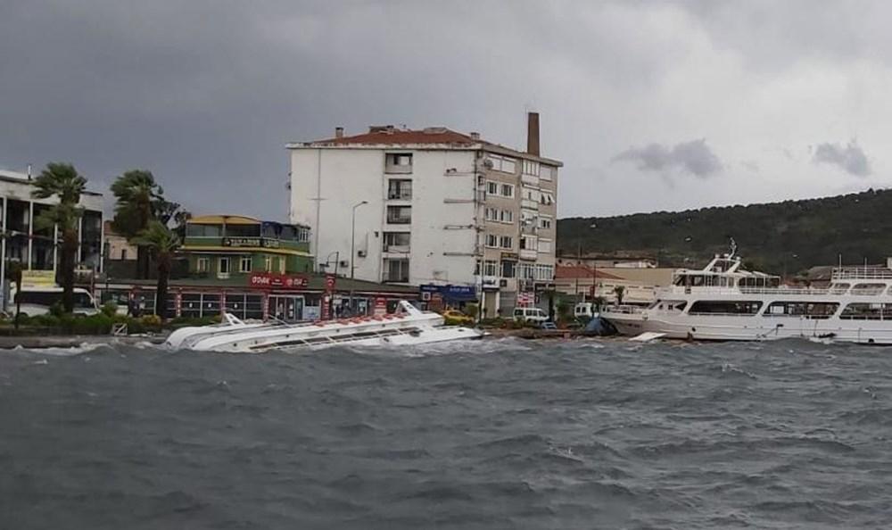Balıkesir Ayvalık'ta fırtına: 20 tekne battı - 4