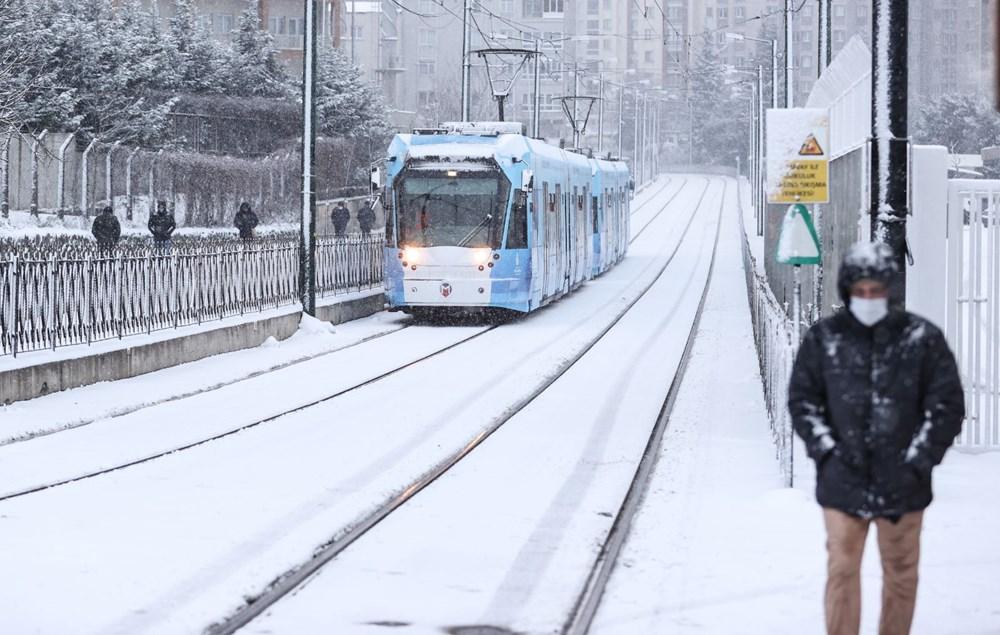 İstanbul'da kar yağışı yeniden etkisini artırdı - 4