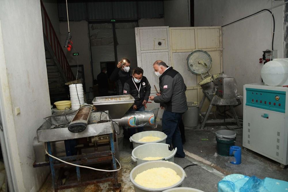 Kaçak peynir imalathanesine baskın - 6