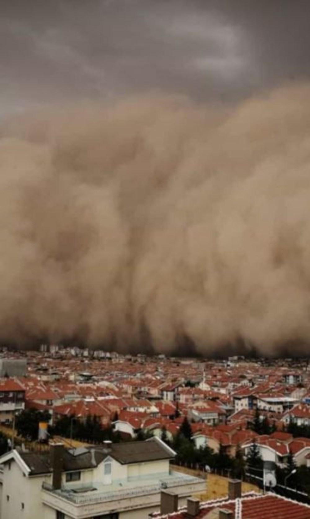 Ankara'da kum fırtınası: Polatlı'yı toz bulutu kapladı - 8