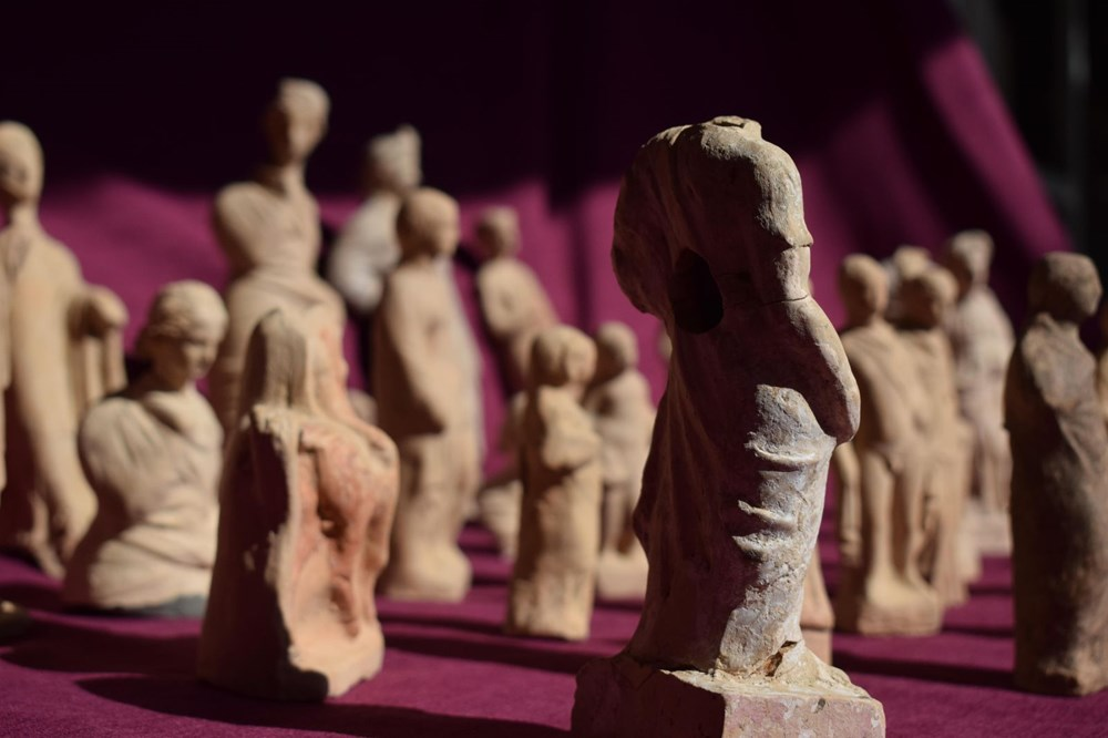 Myra Antik Kenti'nde hepsi bir arada 50'den fazla heykelcik bulundu - 6