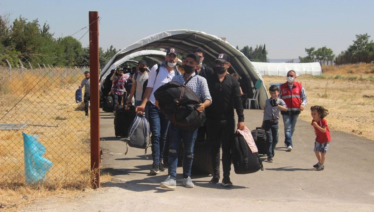2 bin Suriyeli bayram için ülkesine döndü