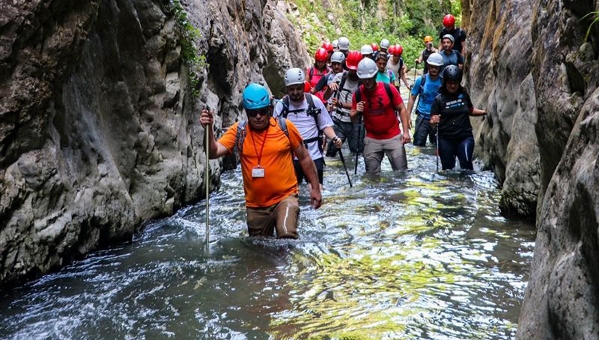 İstanbul'a sadece 2,5 saat mesafedeki Müflizdere Kanyonu doğaseverler tarafından ilgi görüyor