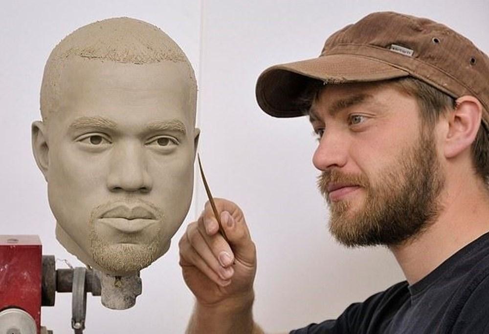 Madame Tussauds Müzesi'nde Kanye West heykeli hazırlığı - 3