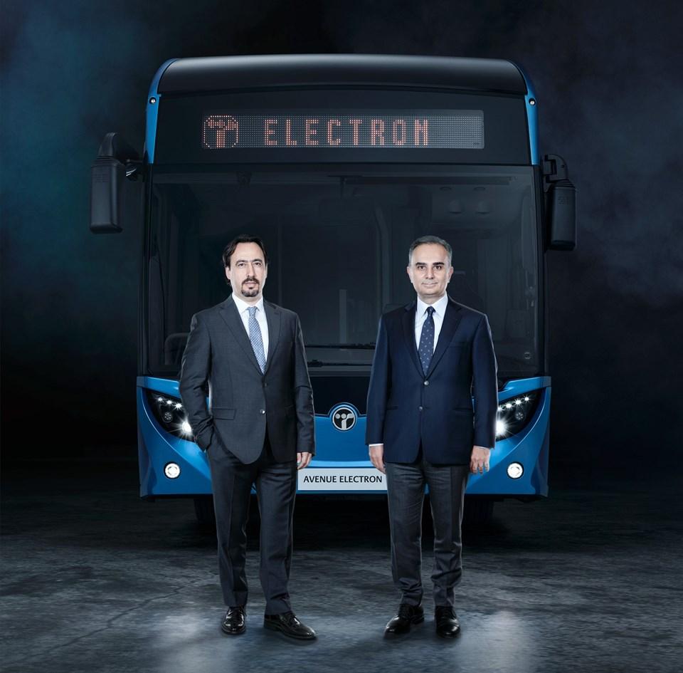 TEMSA Üst Yöneticisi (CEO) Tolga Kaan Doğancıoğlu-Sabancı Holding Sanayi Grup Başkanı ve TEMSA Yönetim Kurulu Başkanı Cevdet Alemdar