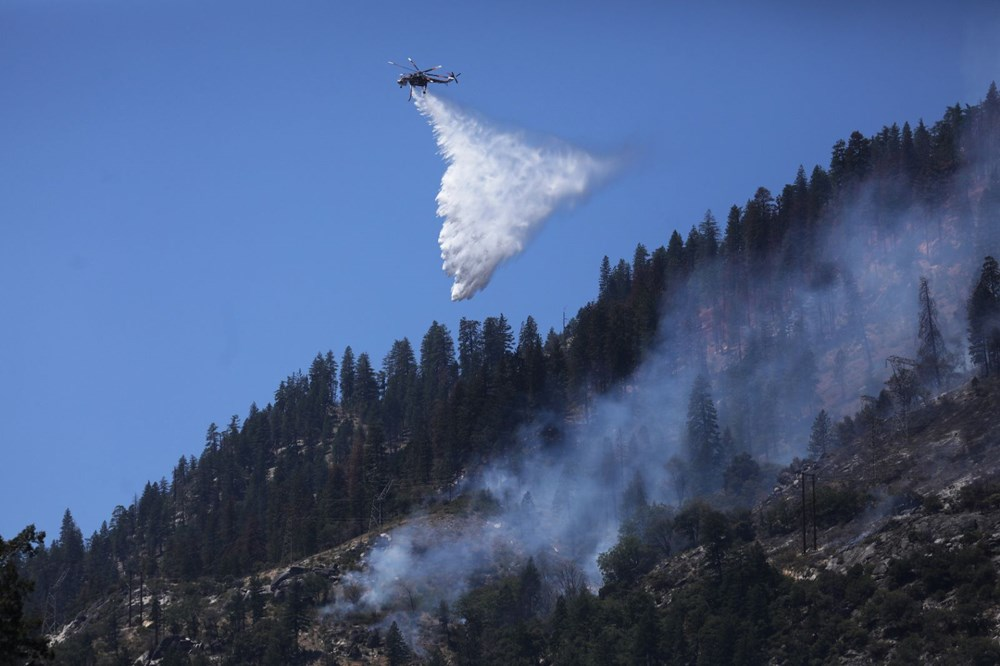 ABD'deki yangın 82 kilometreye yayıldı - 5