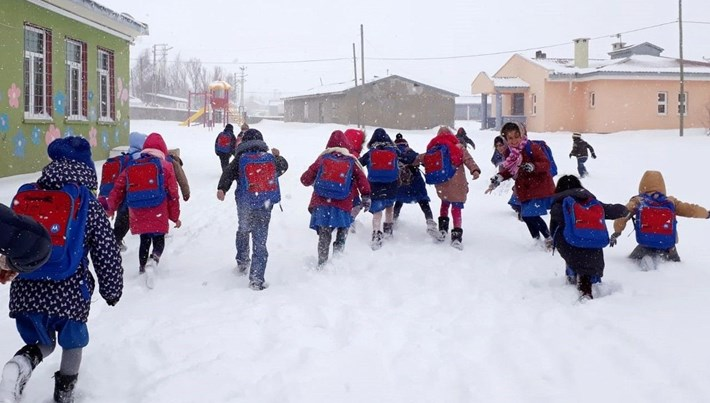 Adıyaman ve Hakkari'de eğitime kar engeli