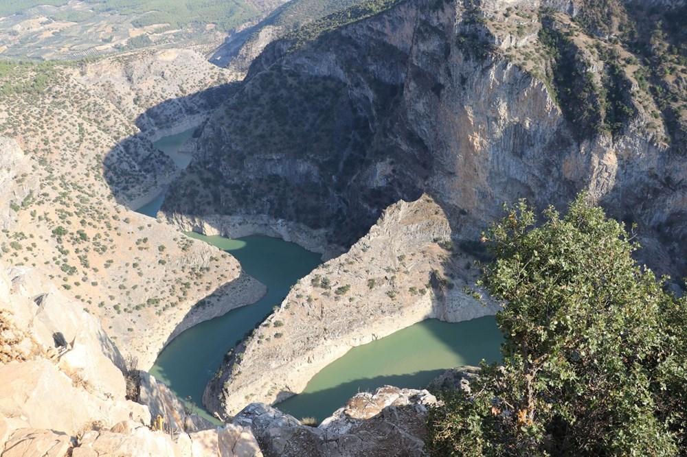 Doğa harikası İnceğiz Kanyonu'nun suyu çekildi - 10