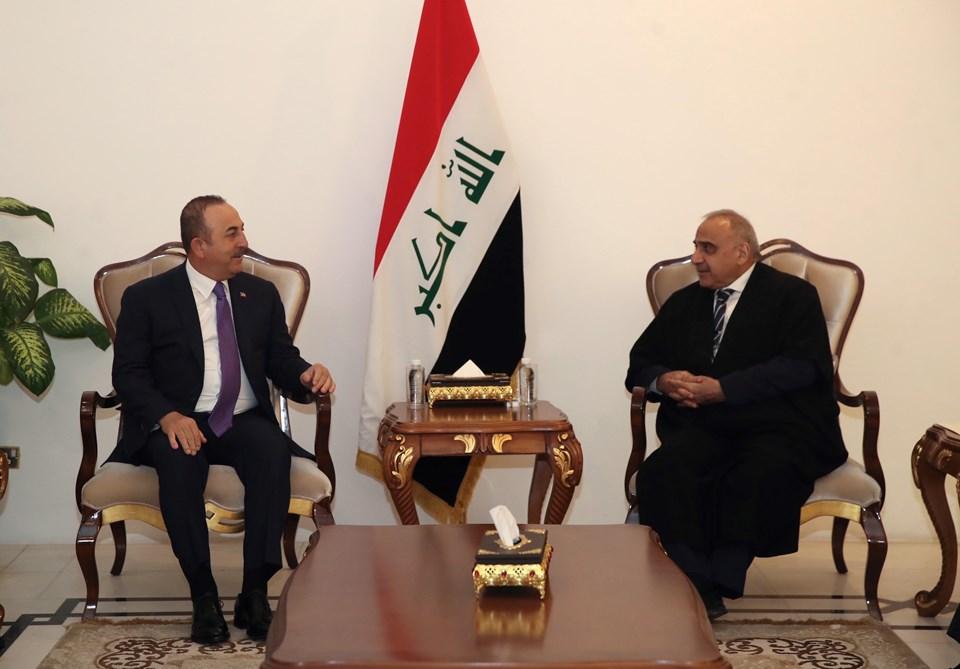 Dışişleri Bakanı Mevlüt Çavuşoğlu ve Irak BaşbakanıAdil Abdulmehdi.