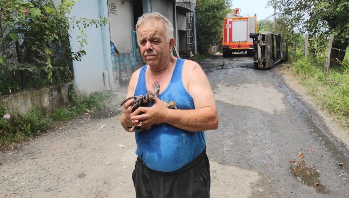 Yangında 12 bin hindi yavrusu öldü, Çiftlik sahibi gözyaşı döktü