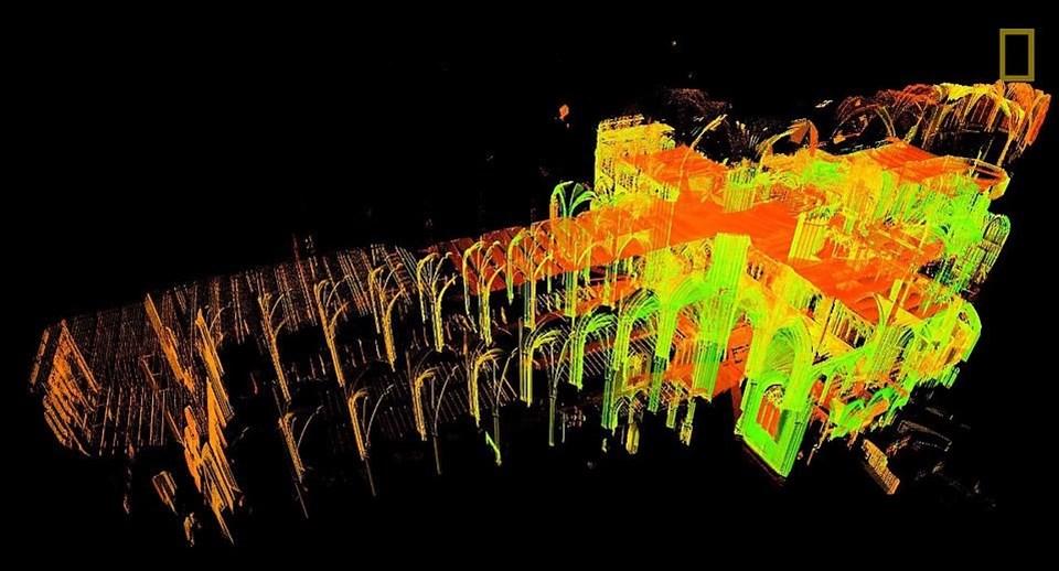 Geçtiğimiz yıl 49 yaşında kansere karşı verdiği savaşa yenikdüşen AndrewTallon 2015 yılında tarihi yapının 3D kopyasını çıkarmıştı .