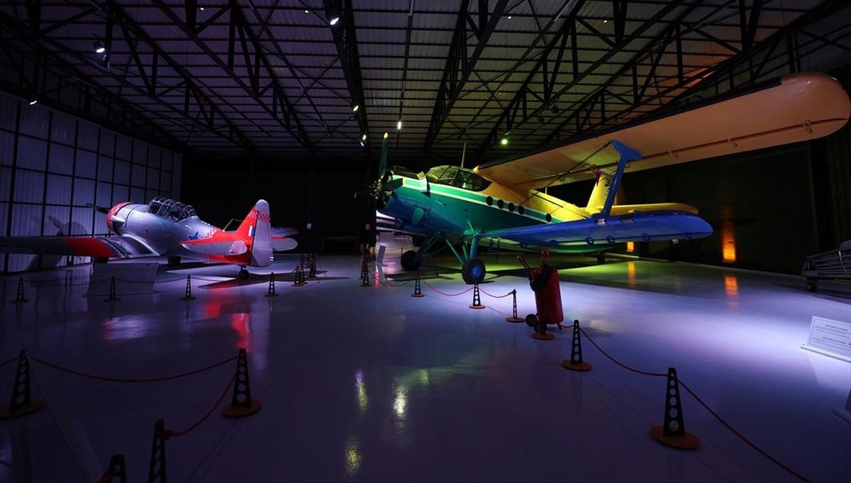 Eskişehir'de film yıldızı uçakların sergilendiği M.S.Ö. Hava ve Uzay Müzesi göz kamaştırıyor