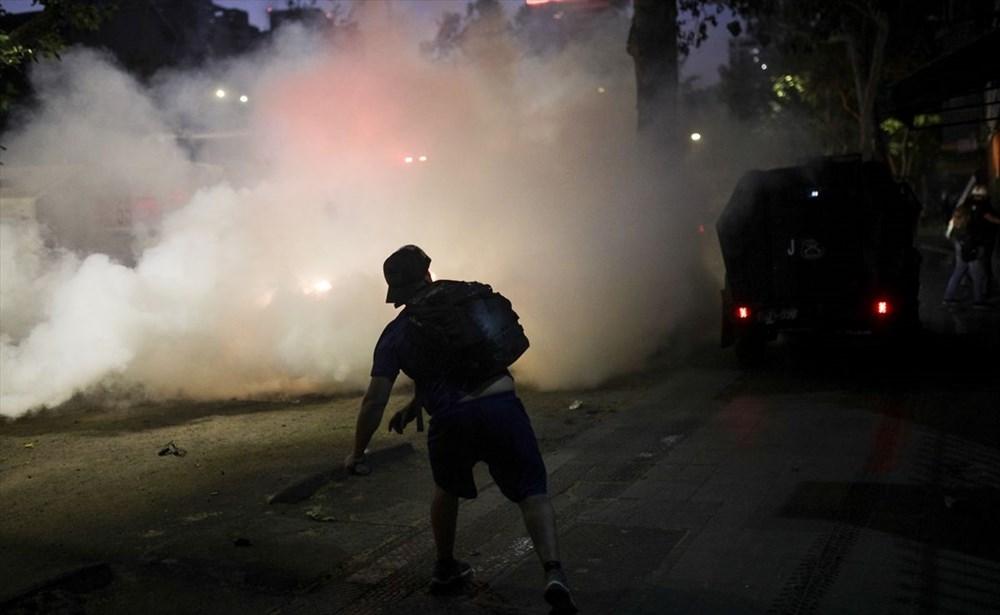 Şili'deki protestoların yıldönümü yaklaşırken sokaklarda tansiyon artıyor - 12