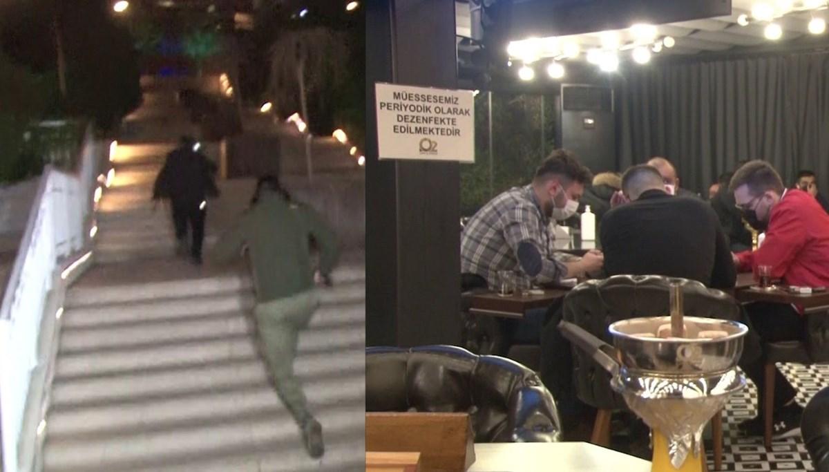 Nargileli okey masasına polis baskını (Arka kapıdan kaçanlar oldu)