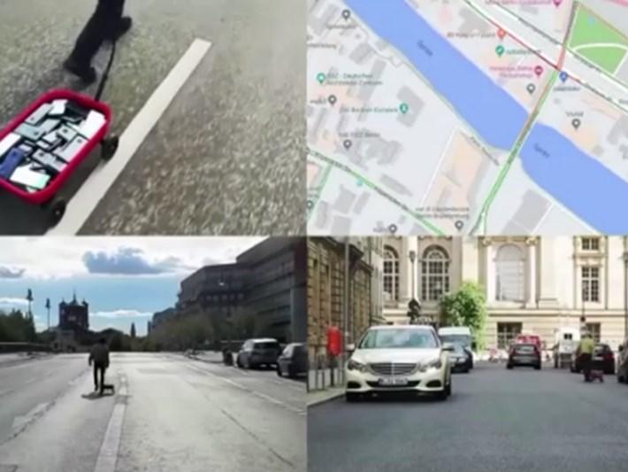 Almanya'da navigasyonu '99 akıllı telefonla' kandırdı