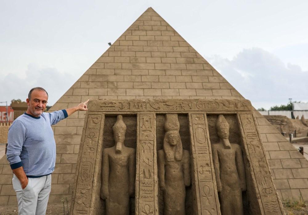 5 yıldır ayakta olan kumdan Keops Piramidi, Guinness'e aday - 3