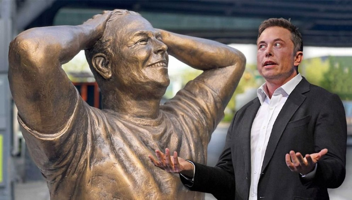 Elon Musk'ın doğum günü onuruna dikilen heykele eleştiri bombardımanı