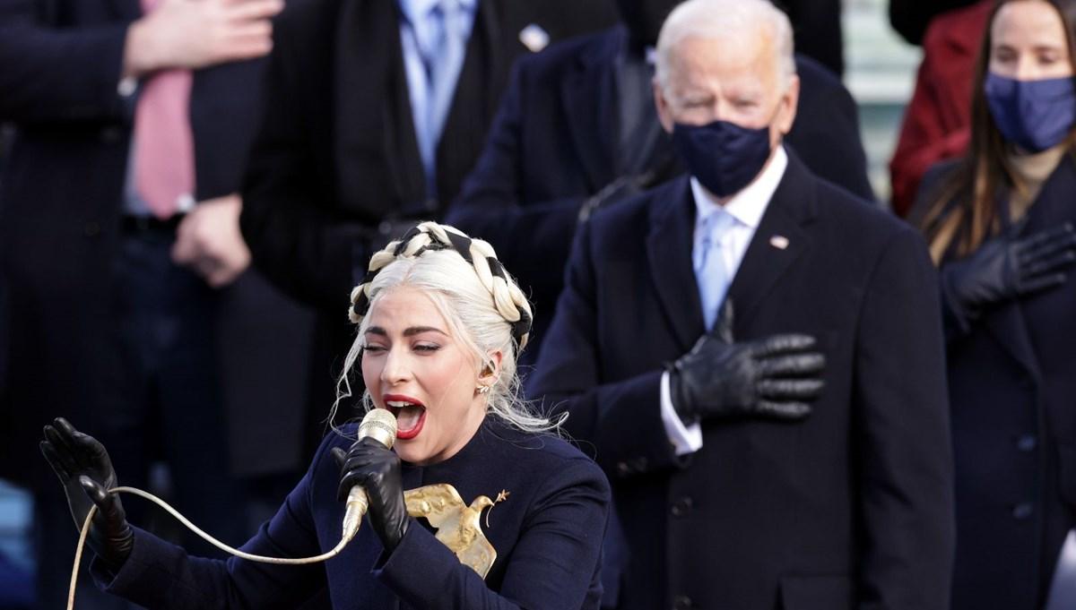 Yemin töreninde Lady Gaga'dan Amerikan ulusal marşı