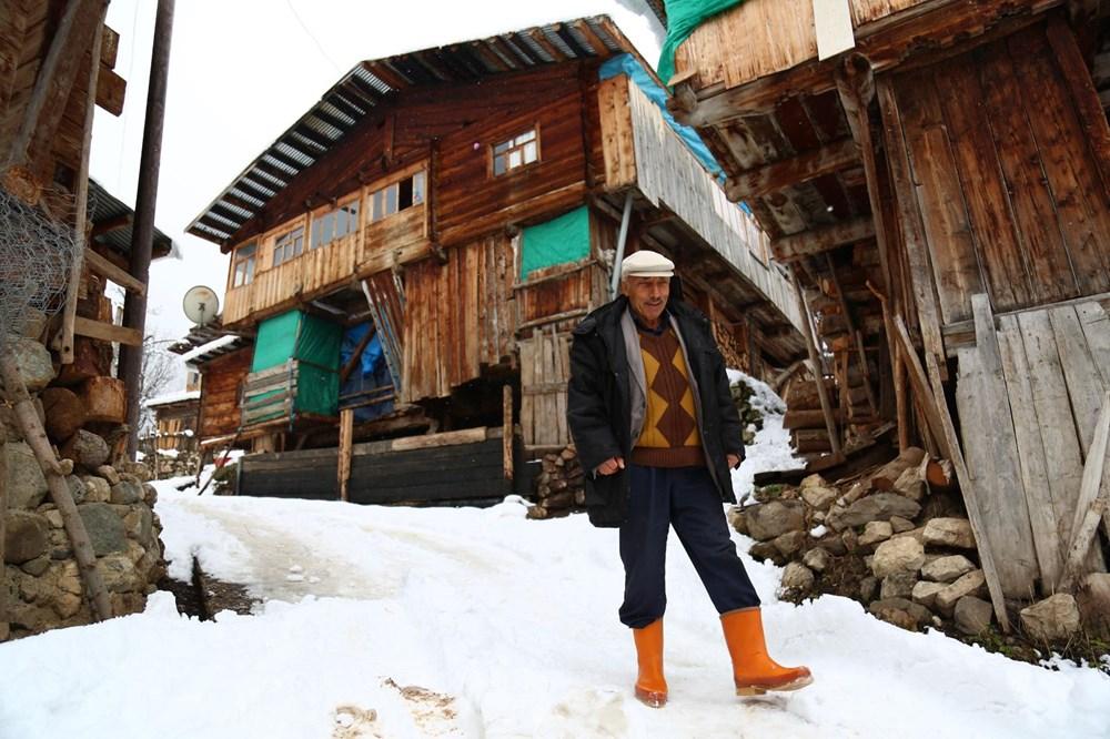 Artvin'deki 2 bin rakımlı Maden Köyü'nde kışı böyle geçiriyorlar - 8