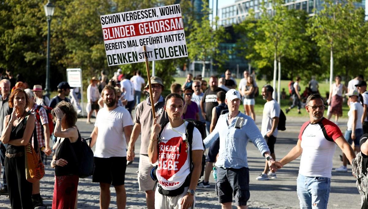 Berlin'deki corona virüs önlem protestosu yasaklandı
