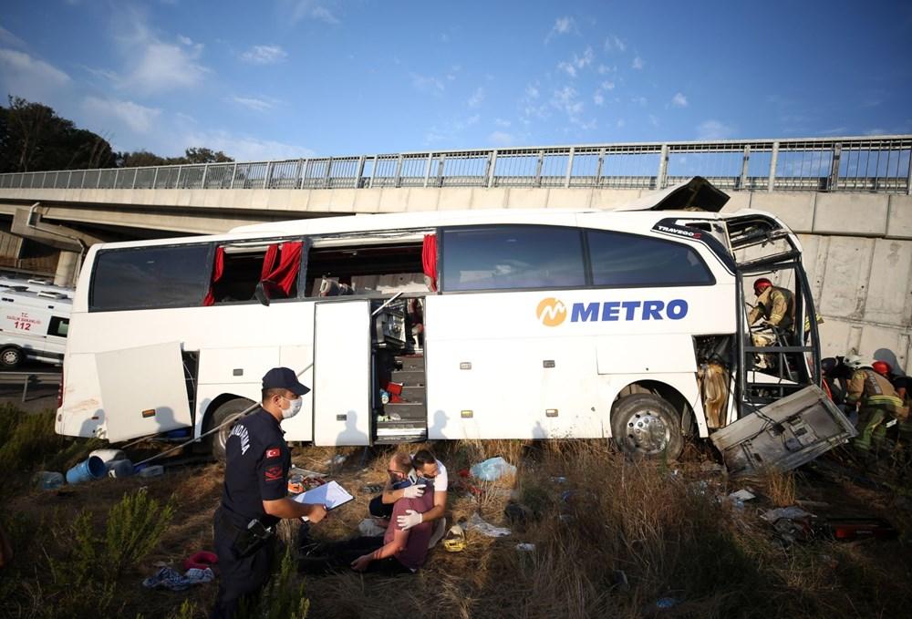 Kuzey Marmara Otoyolu'nda otobüs yoldan çıktı: 5 ölü, 25 yaralı - 3