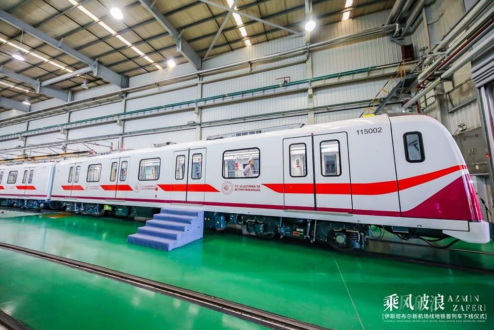 Gayrettepe-İstanbul Havalimanı Metrosu'nda ilk tren raylara indi - 5