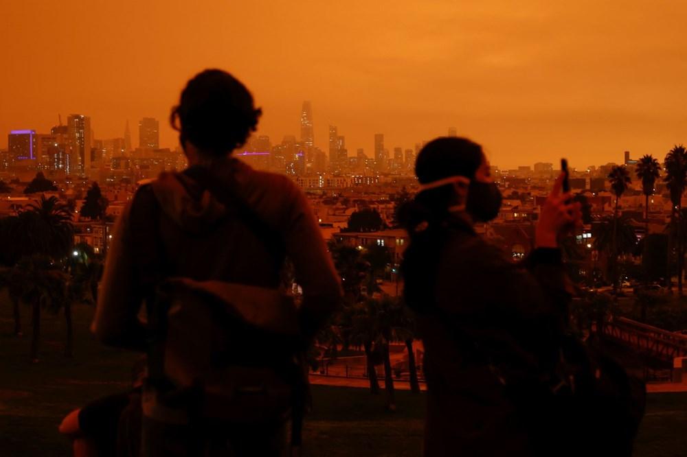ABD'de yangınlar beş kasabayı yok etti (Gökyüzü turuncu renge boyandı) - 4
