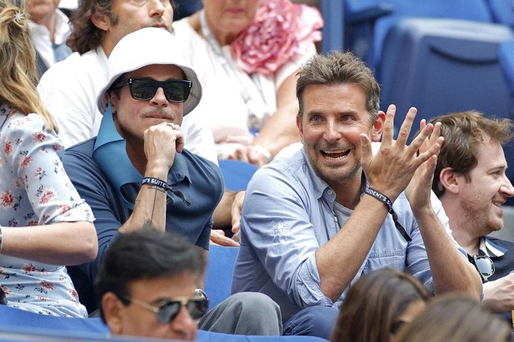Brad Pitt ve Bradley Cooper tenis maçında - 5