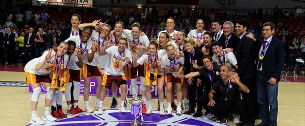 SON DAKİKA:Galatasaray Kadın Basketbol Takımı EuroCup şampiyonu oldu