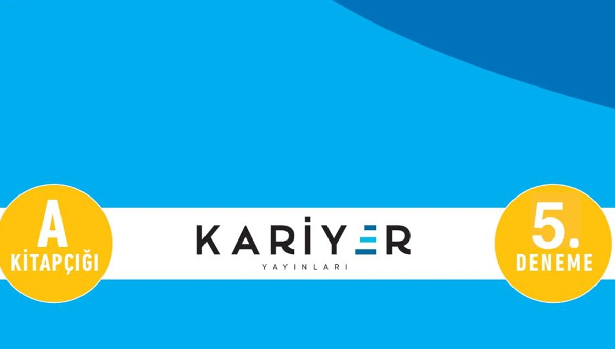 Kariyer Yayınları TYT 5. deneme sınavı
