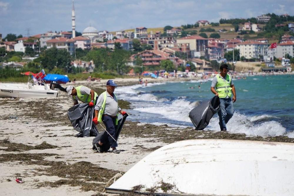 Tekirdağ'ın tatil beldesinde 500 ton çöp toplandı - 5
