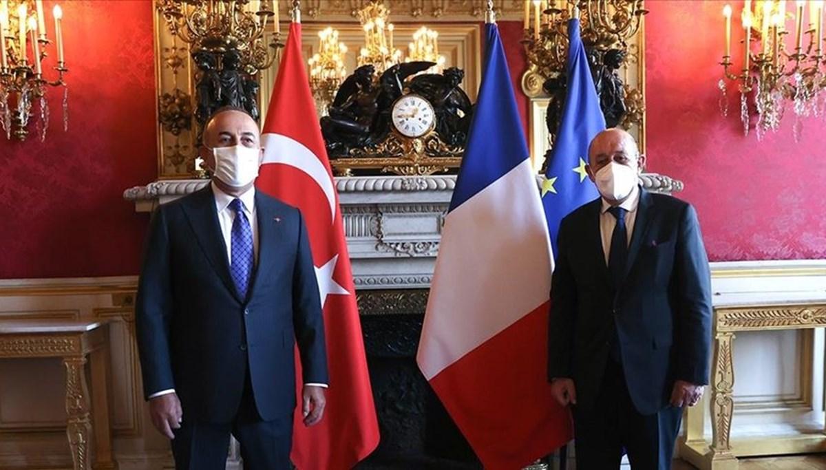 Dışişleri Bakanı Çavuşoğlu Fransız mevkidaşı ile görüştü
