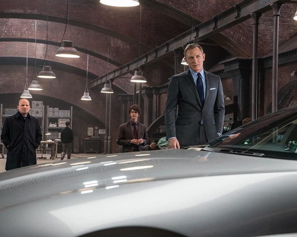 Daniel Craig, Ben Whishaw ve Rory Kinnear, Spectre setinde